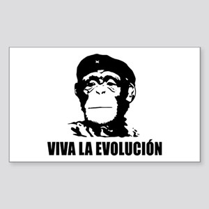 Viva La Evolucion Rectangle Bumper Sticker